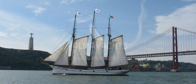 Vintage sail yacht