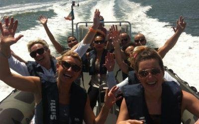 Speedboat tour cruise in Lisbon