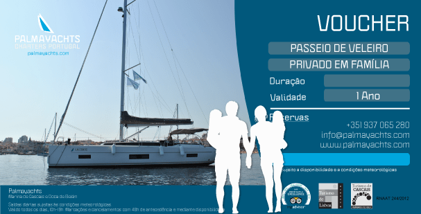 Voucher - Family Private Sailing cruise in Cascais