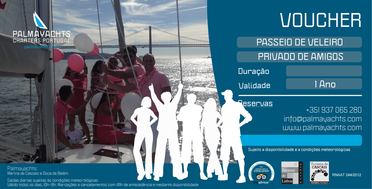 Voucher - Friends Private Sailing Cruise in Cascais
