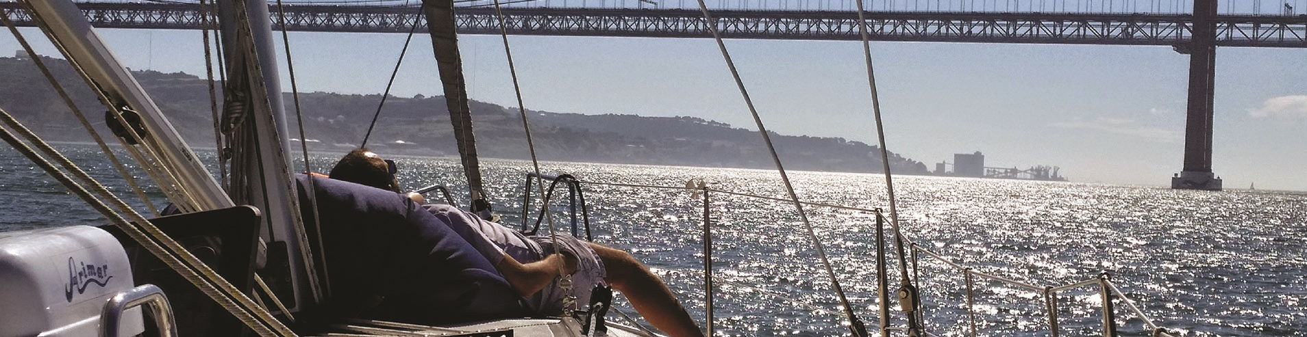 Relax on a sailboat in Lisbon